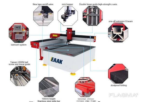 China water jet cnc cutting machine for glass metal stone
