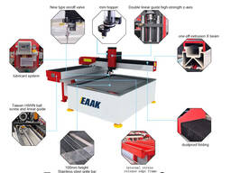 China water jet cnc cutting machine for glass metal stone